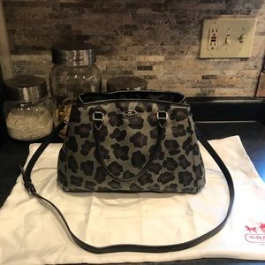 Coach leopard crossbody